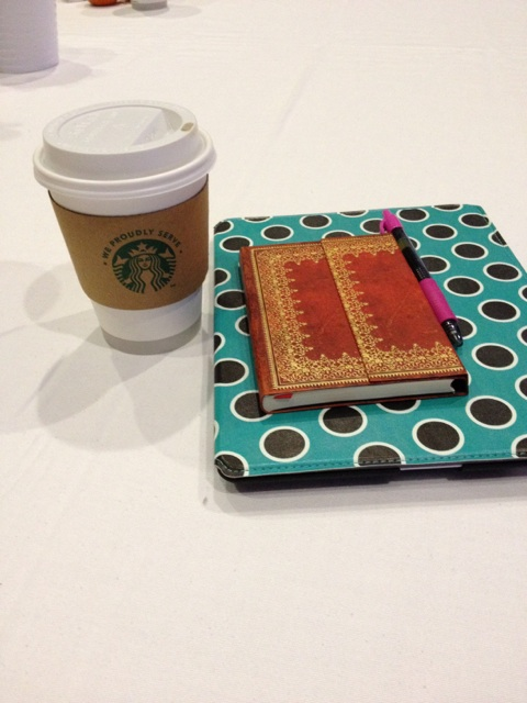 coffee, journal & iPad - survival items for Influence 2013